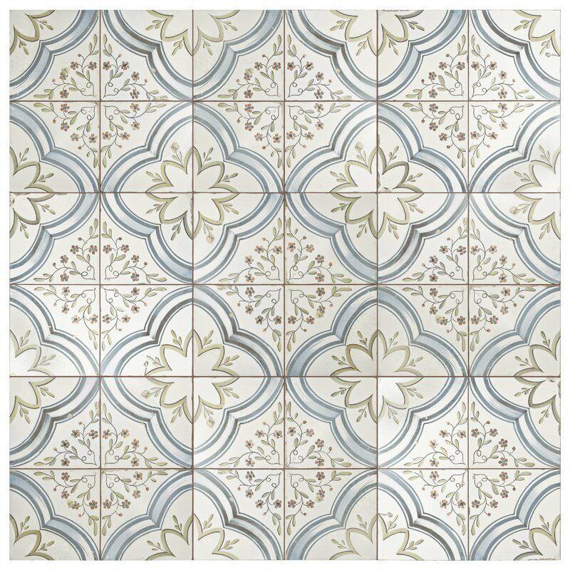 Alcaza 18 X 18 Ceramic Patterned Wall Floor Tile Floor Floor Tiles Map In 2020 Tile Floor Ceramic Floor Tiles Flooring