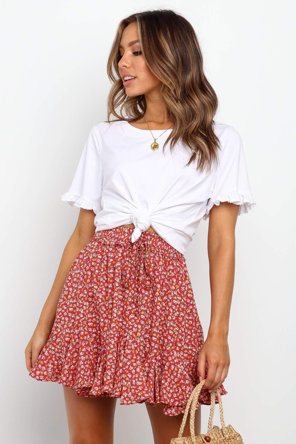 Hallow Skirt – Red – Spring Outfit