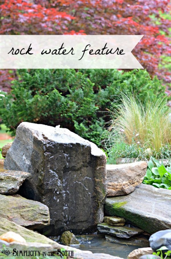 A Bubbling Rock Water Feature And A Mini Yard Tour Water Features Water Features In The Garden Outdoor Water Features