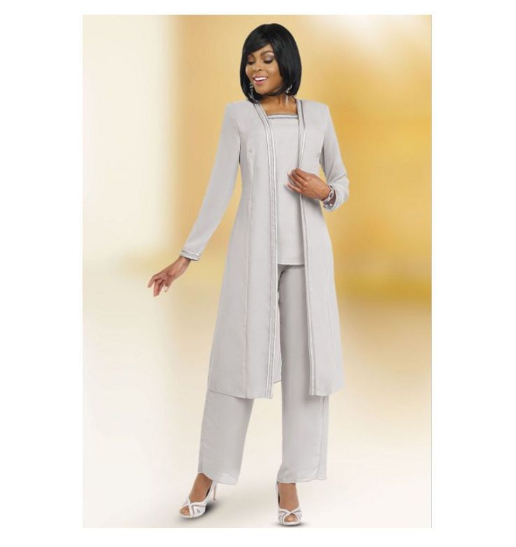 cheaper sale many fashionable compare price Women's Misty Lane Evening 3-piece Gray with Silver Trim ...