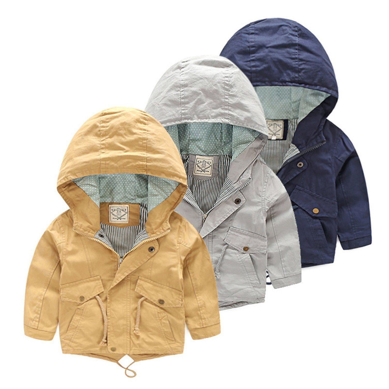 71e07a120d36 Felds For 2-8 Yrs Baby Boy Coat Jacket Boy Hooded Windbreaker ...
