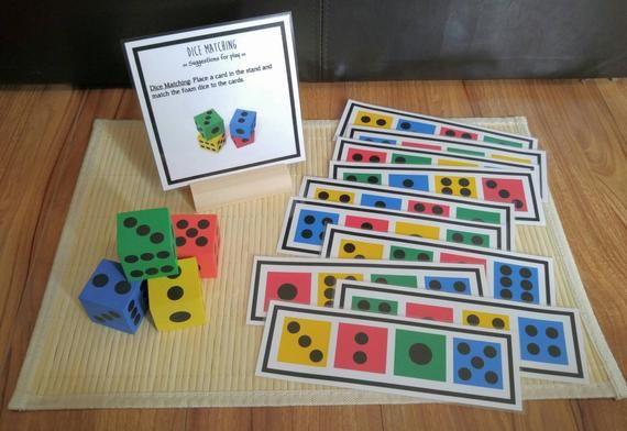 Dados ocupado bolsa, juego para los niños, habilidades de Motor finas, regalo para niños, recursos maestros