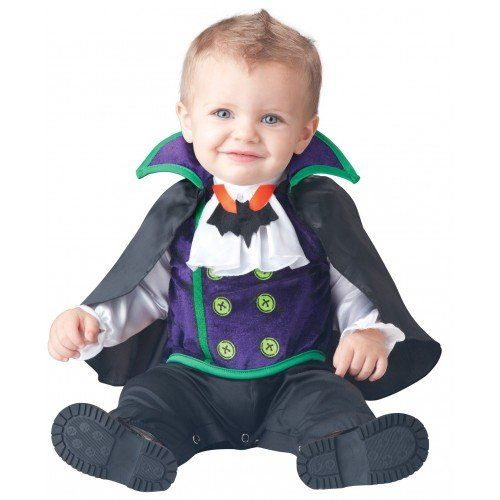 Deluxe Baby Boys Count Cutie Vampire In Character Halloween Fancy ...