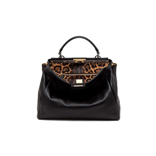 d763d94cc44 ... low cost fendi peekaboo handbag in black leopard bags totes satchel  handbags 76bbd 53c4d