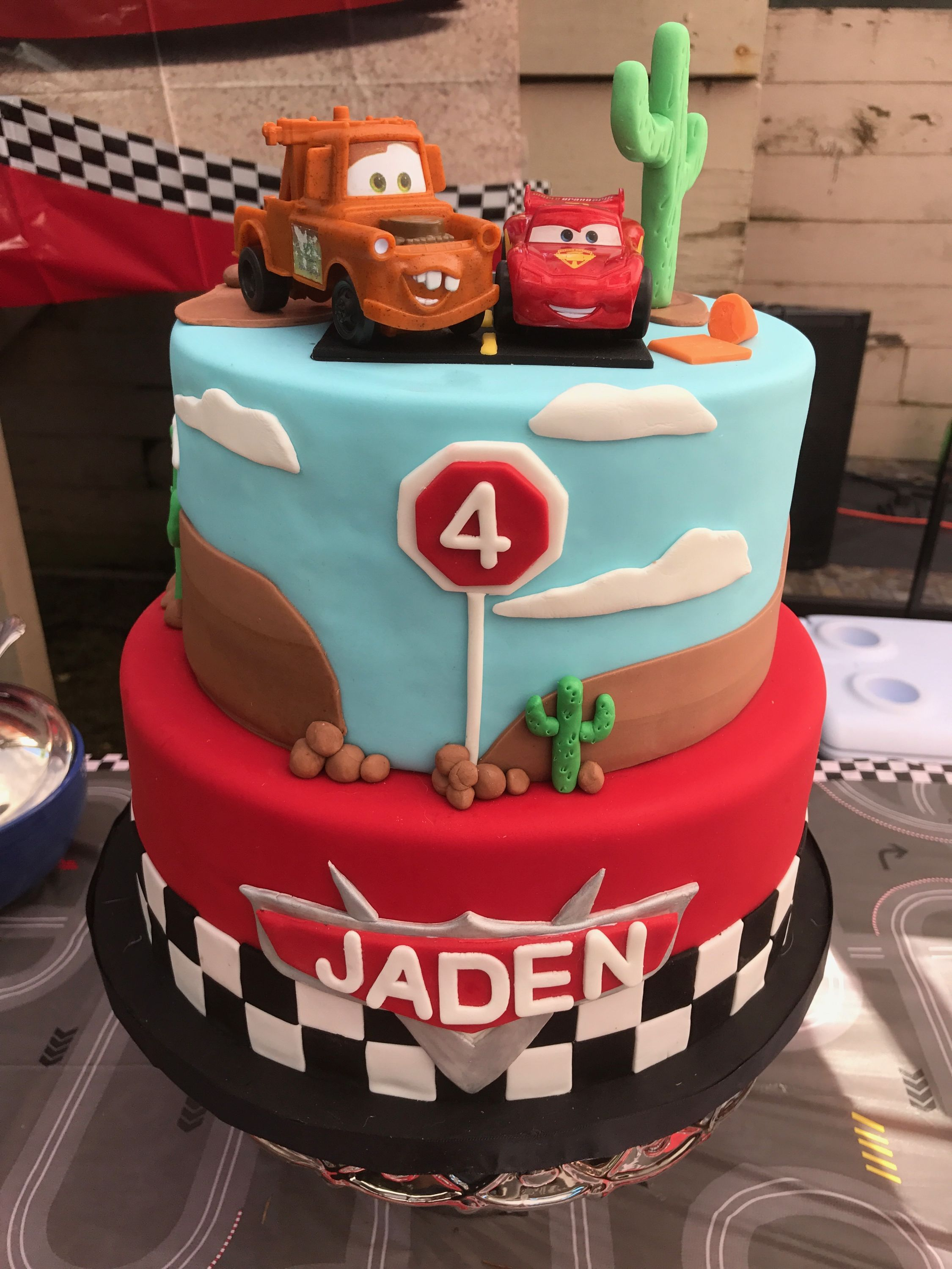 Surprising Cars Lightening Mcqueen Cake With Images Mcqueen Cake Personalised Birthday Cards Paralily Jamesorg