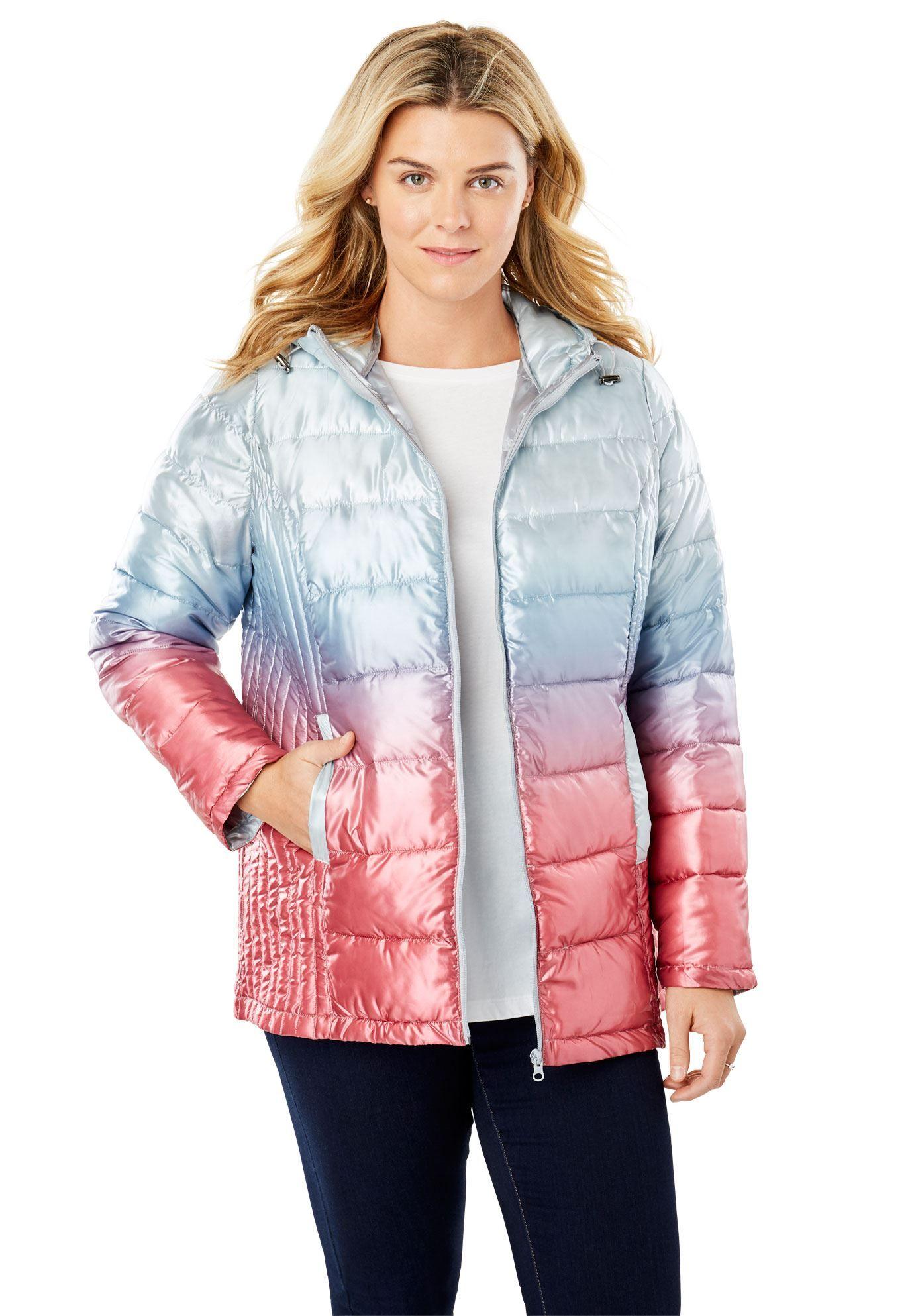 786955d8642 Packable Puffer Jacket - Women s Plus Size Clothing