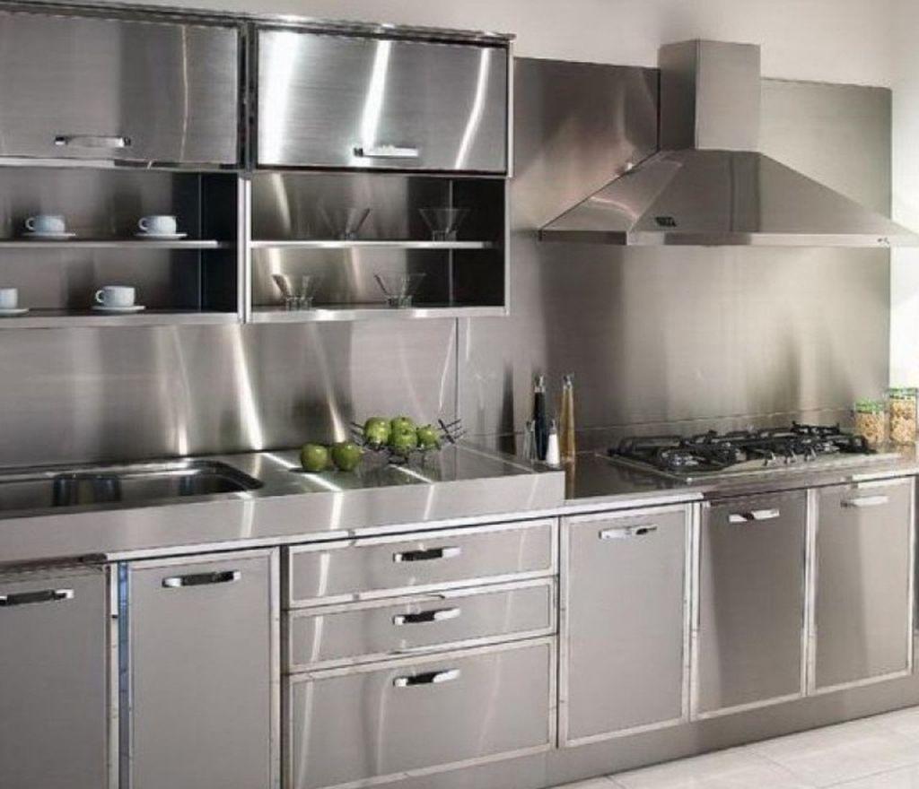 Ideen für küchenschränke ohne türen nice  modern stainless steel kitchen cabinet design for cozy