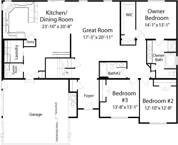 Floor Plan Detail All American Homes Floor Plans House Plans Modular Homes