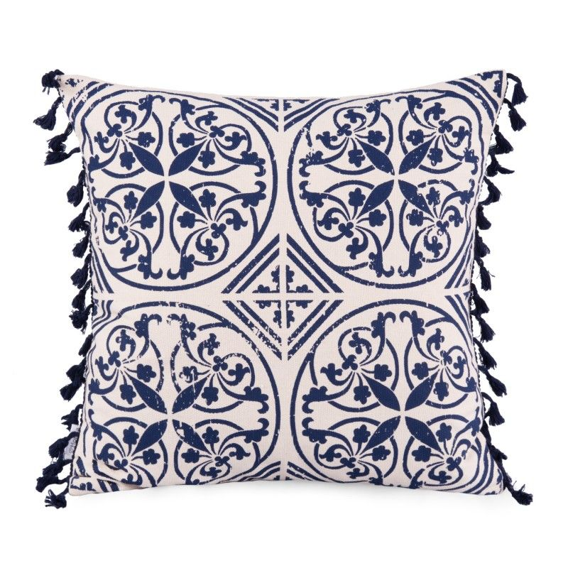 Milo Blue Poszewka W Niebieskie Wzory 45x45 Cm Pillows Throw Pillows Pillow Cushion
