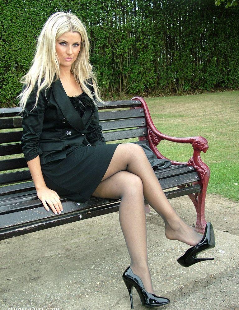 Pin on Tan Pantyhose and High Heels