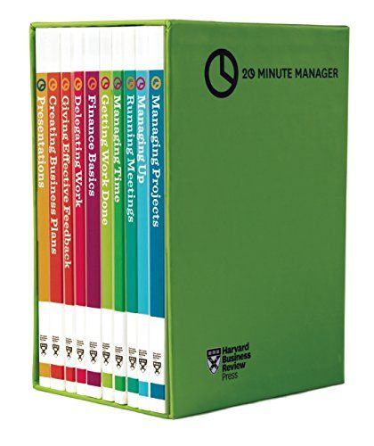 hbr 20 minute manager boxed set 10 books hbr 20 minute manager