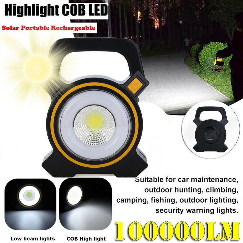 30W USB Rechargeable LED COB Work Light Spotlight Camping Outdoor Emergency Lamp