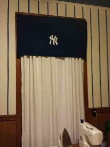 Yankees Curtain Valance Yankee Room Basic Shower Curtain Curtains