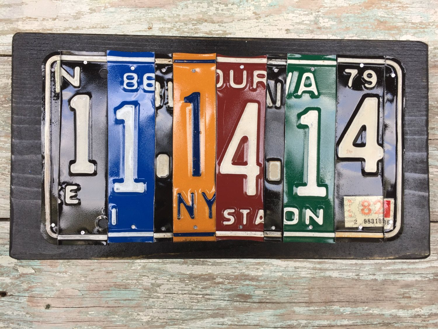 One year anniversary license plate sign by cedarfever on etsy