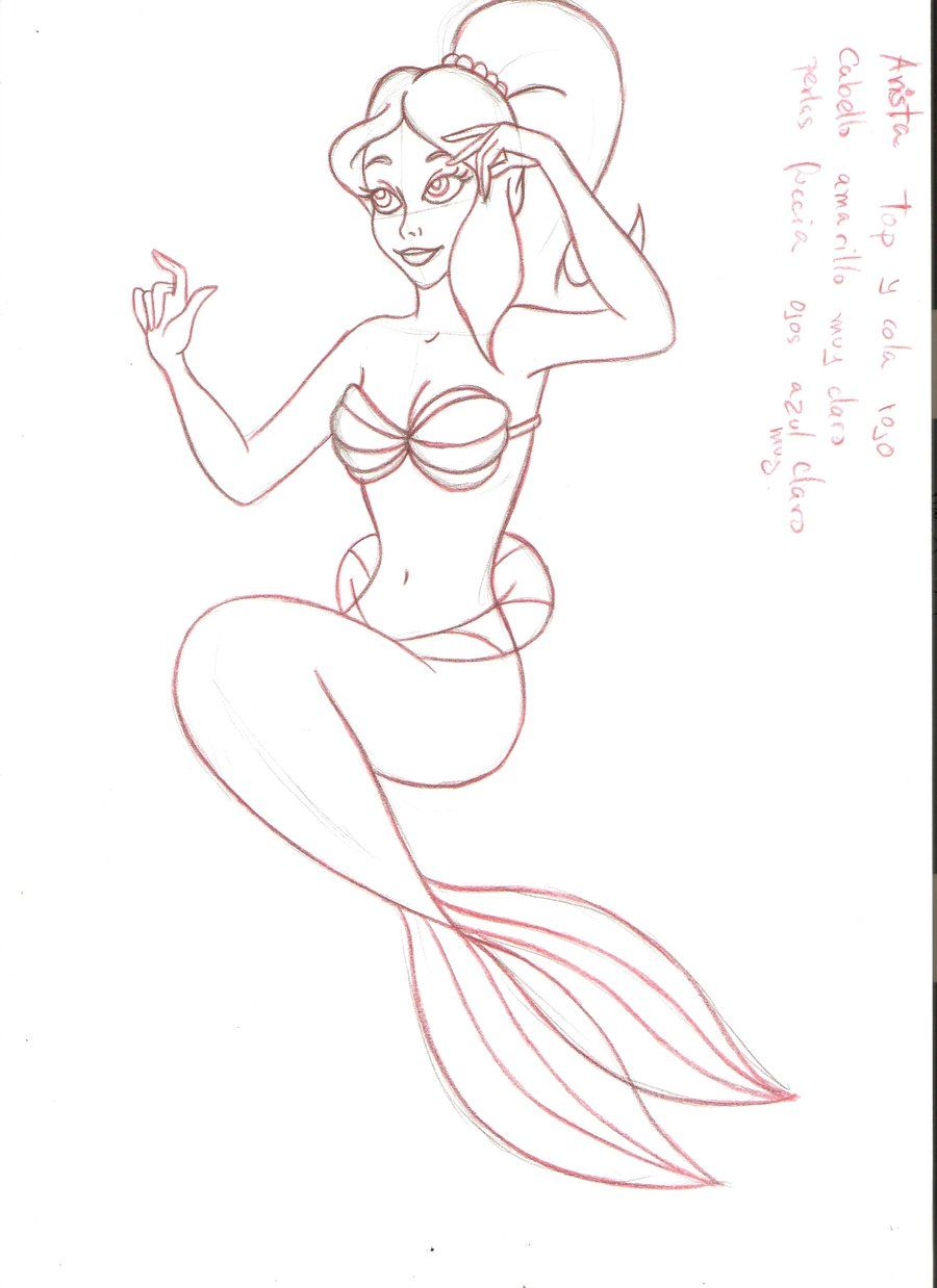 little mermaid sisters coloring pages - Buscar con Google