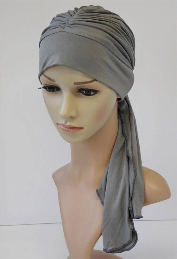 Chemo head wear, elegant tichel, head snood, viscose jersey ...