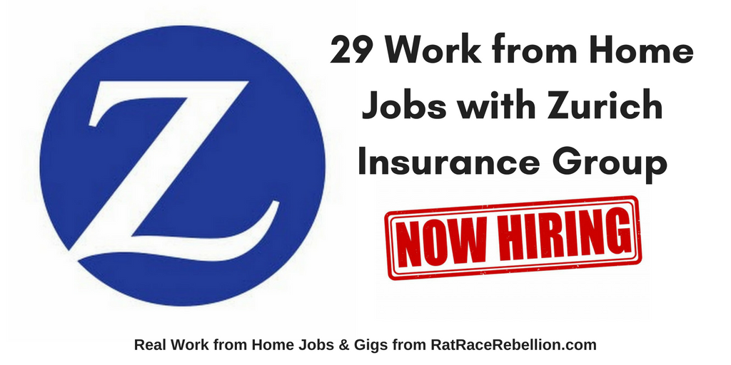 29 Work From Home Jobs With Zurich Insurance Group Work From