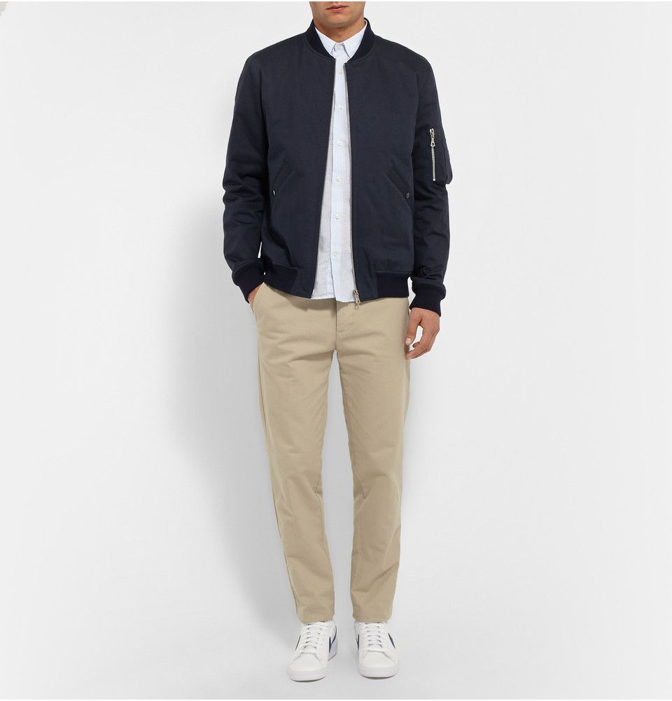 A P C Herringbone Cotton Bomber Jacket Mr Porter [ 1002 x 960 Pixel ]