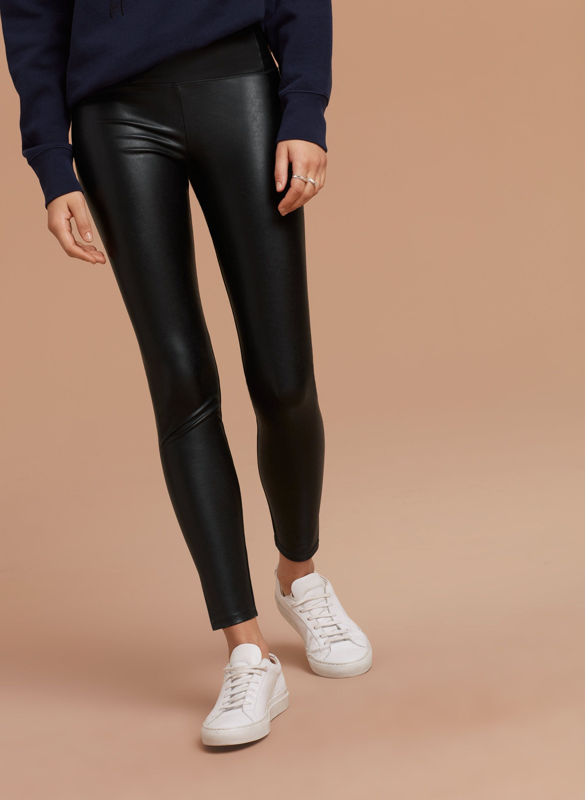 Wilfred Free Daria Pant Ankle Aritzia Pants Vegan Leather Leggings Ankle Pants