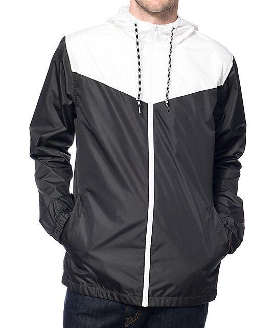 Zine Sprint White & Black Windbreaker Jacket | Windbreaker jacket ...