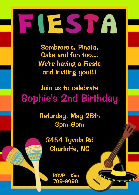 invitations for fiesta birthday – Mexican Fiesta Party Invitations