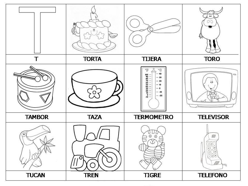Dibujo De Palabras Letra T Buscar Con Google Actividades