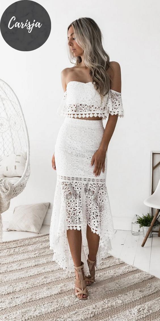 Mit weiße spitze kleider Weiße Kleider