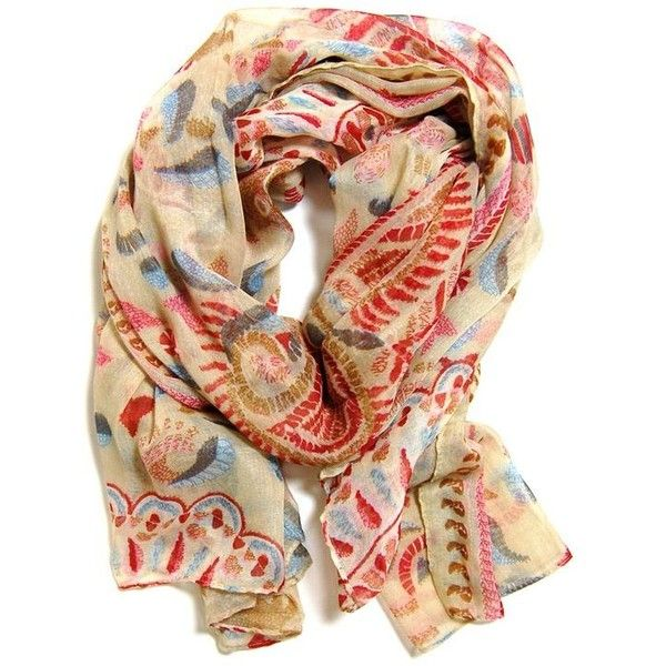 (31) Kashmir Scarf in Beige >> Beautiful! | Accessorize Me |... ❤ liked on Polyvore featuring accessories and scarves