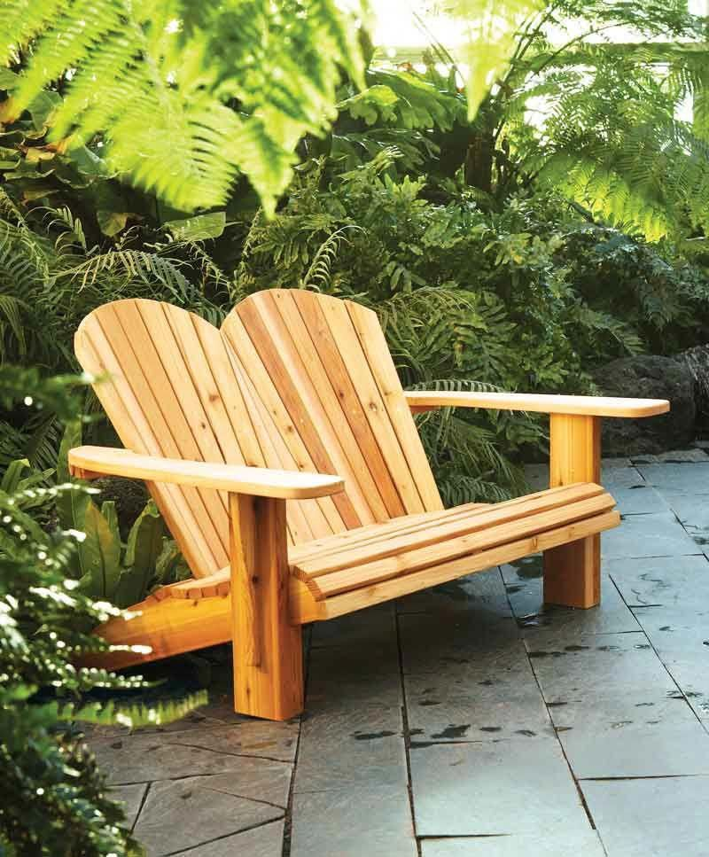 Diy double adirondack chair plans how to make a loveseat