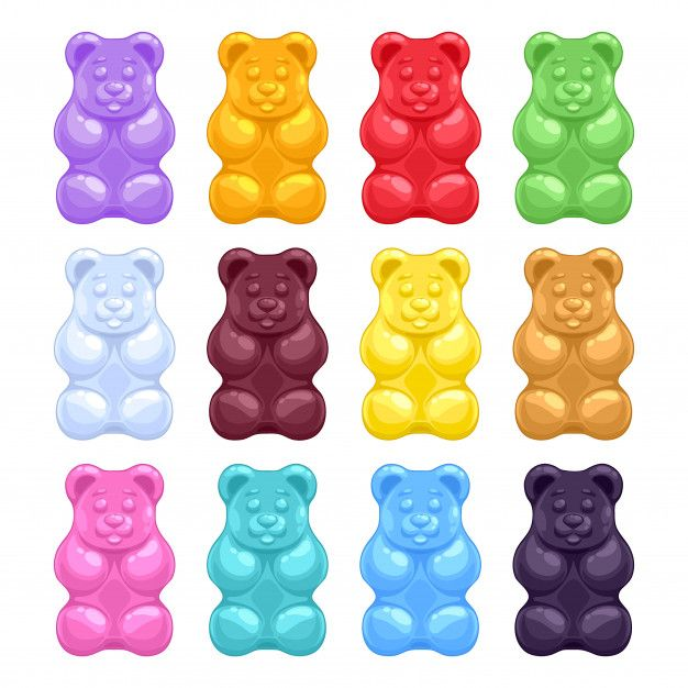 Set Of Colorful Beautiful Realistic Jelly Gummy Bears Sweet Candes Gummy Bears Candy Images Gummies