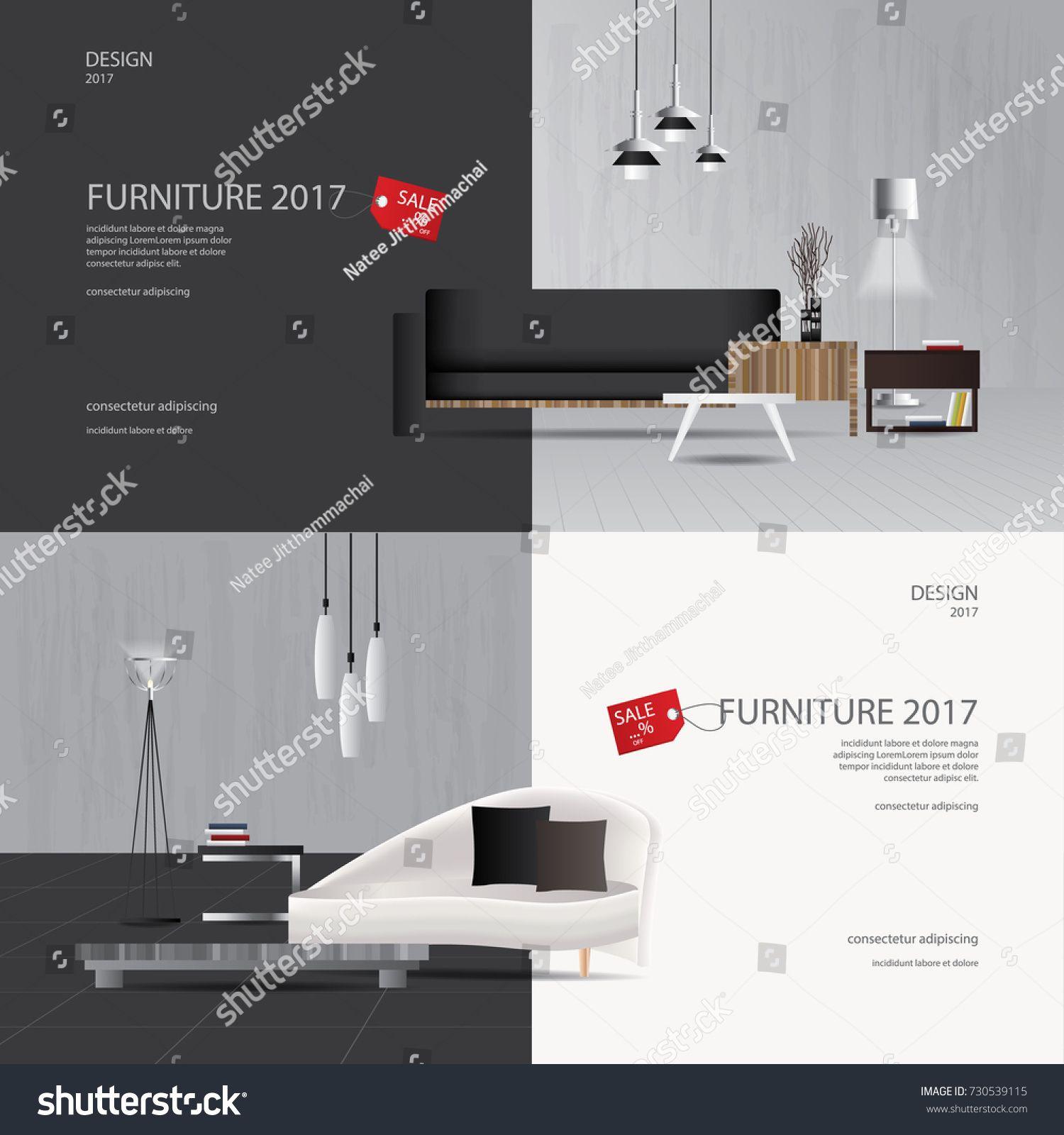 2 Banner Furniture Sale Design Template Vector Illustrationsale