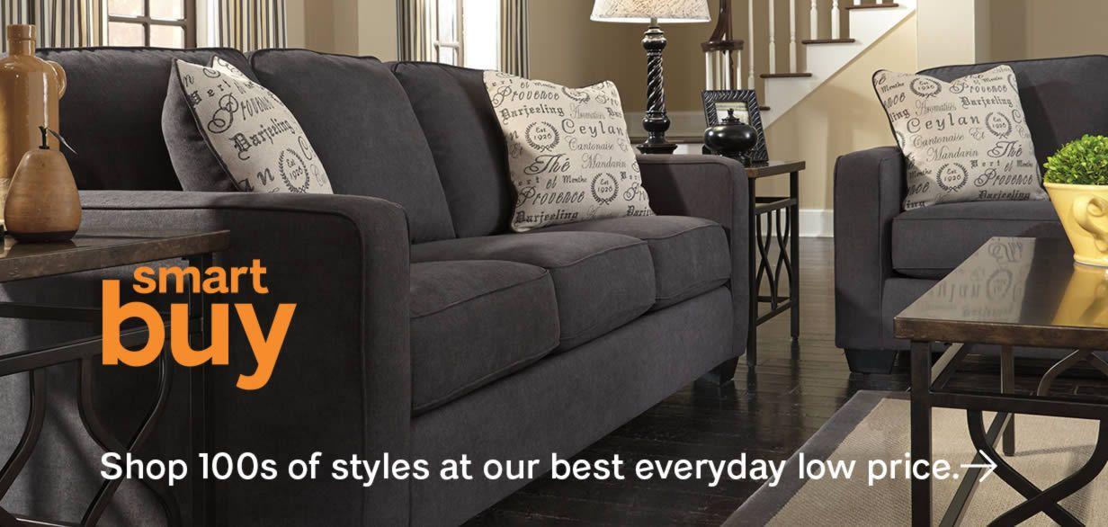 Ashley Furniture HomeStore Black Sofa