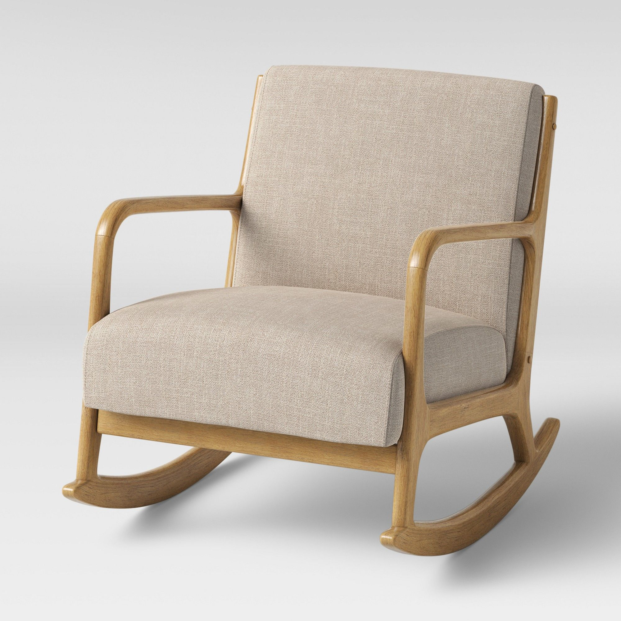 Esters Rocking Accent Chair Cream Project 62 White Wood Arm