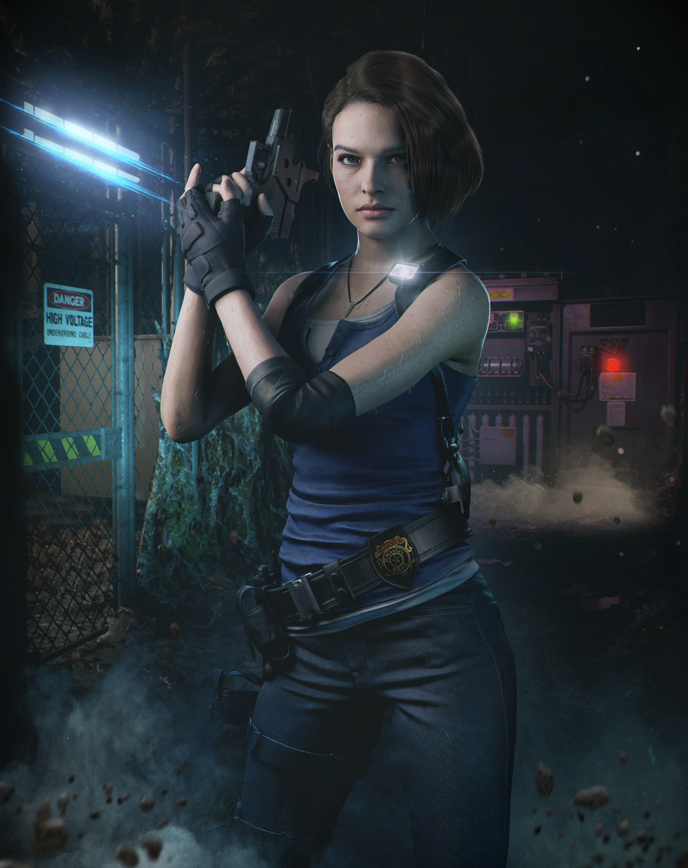 Re3 Remake Jill By Demonleon3d On Deviantart Resident Evil Girl Jill Valentine Resident Evil 3 Remake