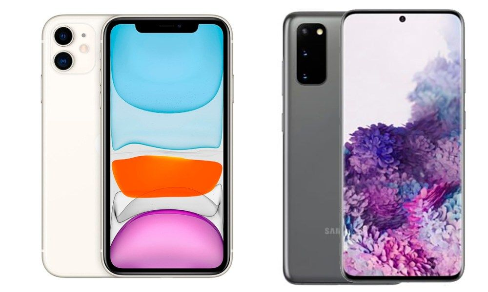 iPhone 11 vs Galaxy S20 Compare Datasheet and Price in