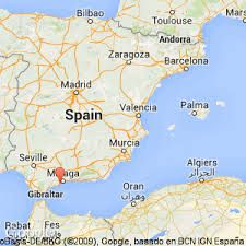 Map Of Malaga Area Spain.Map Of Spain Showing The Location Of Sahara Sunset In Malaga With