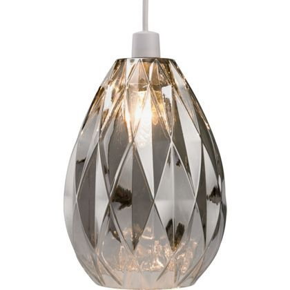 Homebase - ceiling light (Neptune Glass Easy Fit Pendant - Smoke 282091)  sc 1 st  Pinterest & Homebase - ceiling light (Neptune Glass Easy Fit Pendant - Smoke ...