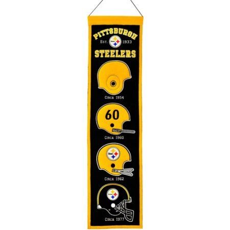 e011edcbf Pittsburgh Steeler Heritage Banner, Multicolor   Products ...