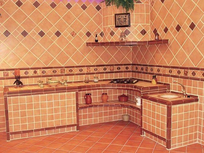 Cocinas peque as rusticas integrales decoracion - Cocina rustica pequena ...