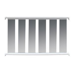 glass baluster railing kit with white aluminum
