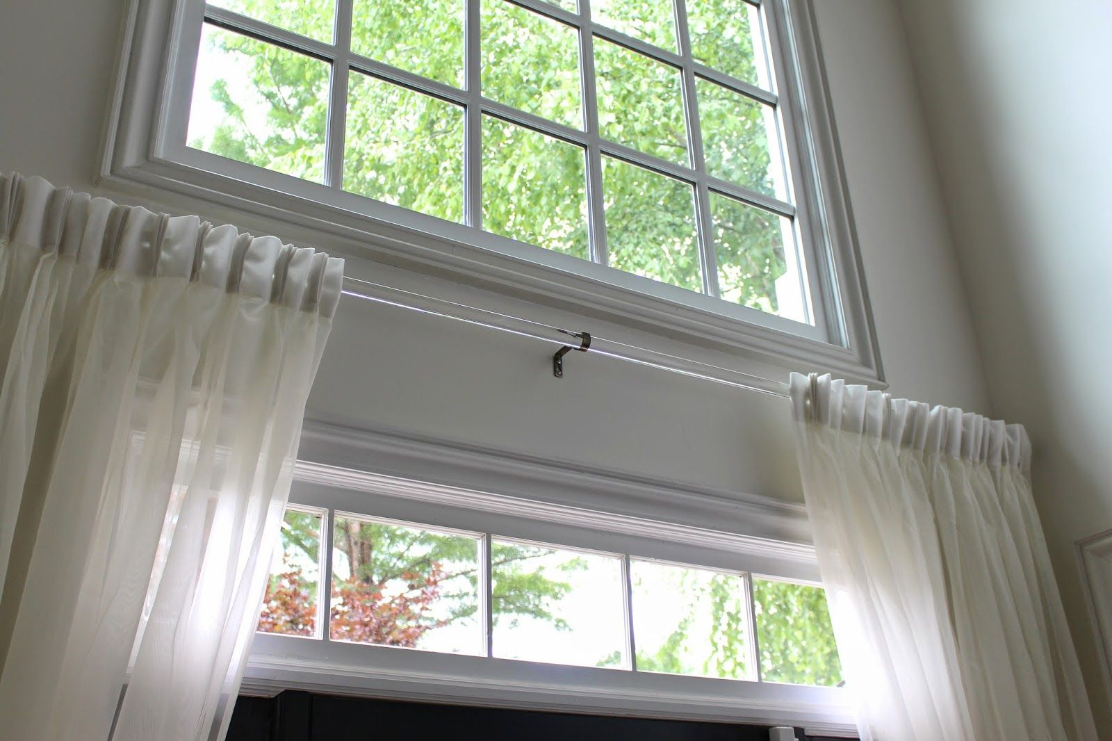 Clear sash curtain rods - Lucite Acrylic Rods Sag So Much In The Middle From Their Own Weight So