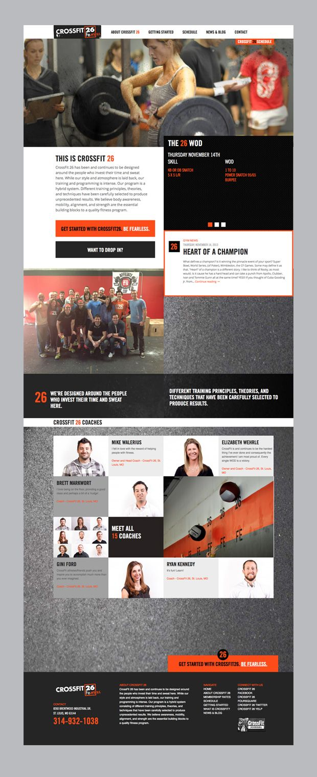 Web Design For St Louis Crossfit 26 Sports Design Layout Website Design Layout Sports Design