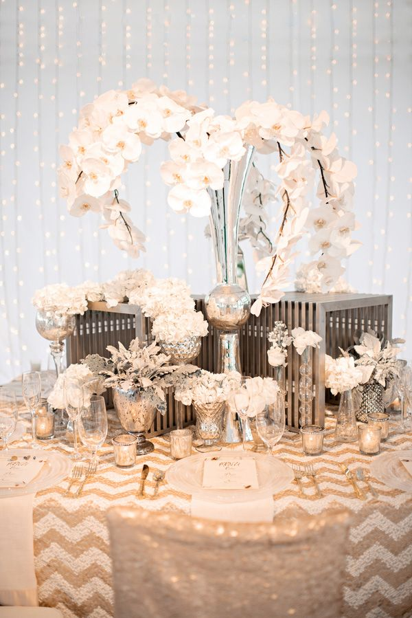 Gold Silver And Cream Wedding Color Inspiration