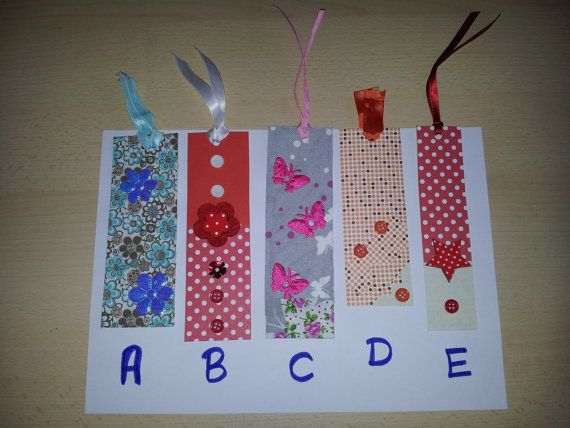 bookmarks made of paper or fabric by Snailwithamail on Etsy