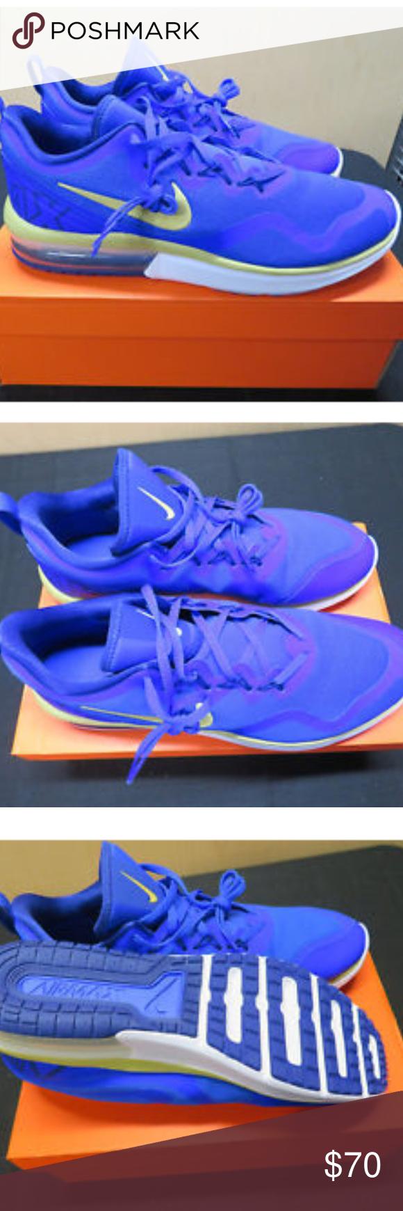 sports shoes 28042 9ae58 Nike Air Max Fury RUNNING SHOES SZ 13 NEW Nike Air Max Fury AA5739-402  RACER BLUE BUFF GOLD Men s Running Shoes SZ 13 Nike Shoes Athletic Shoes