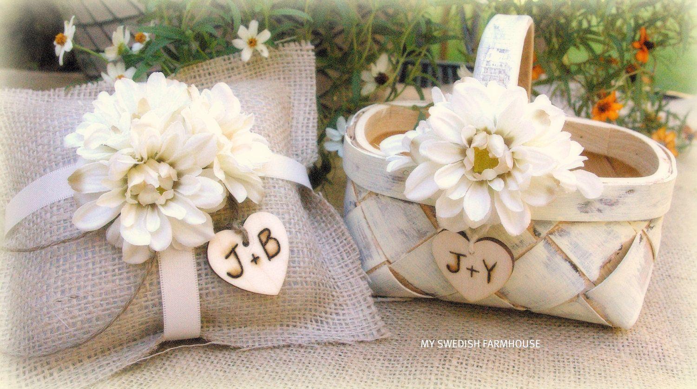 Flower girlring bearer wedding ideas pinterest ring bearer burlap ring bearer pillow and flower girl basket on etsy izmirmasajfo