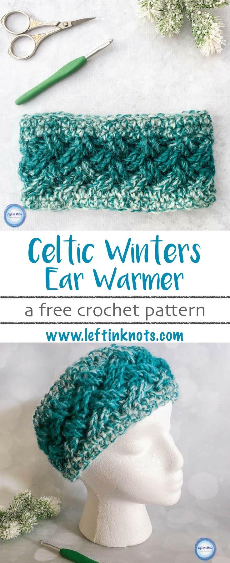 Celtic Winters Ear Warmer Crochet Pattern | Häkeln, Stricken und ...
