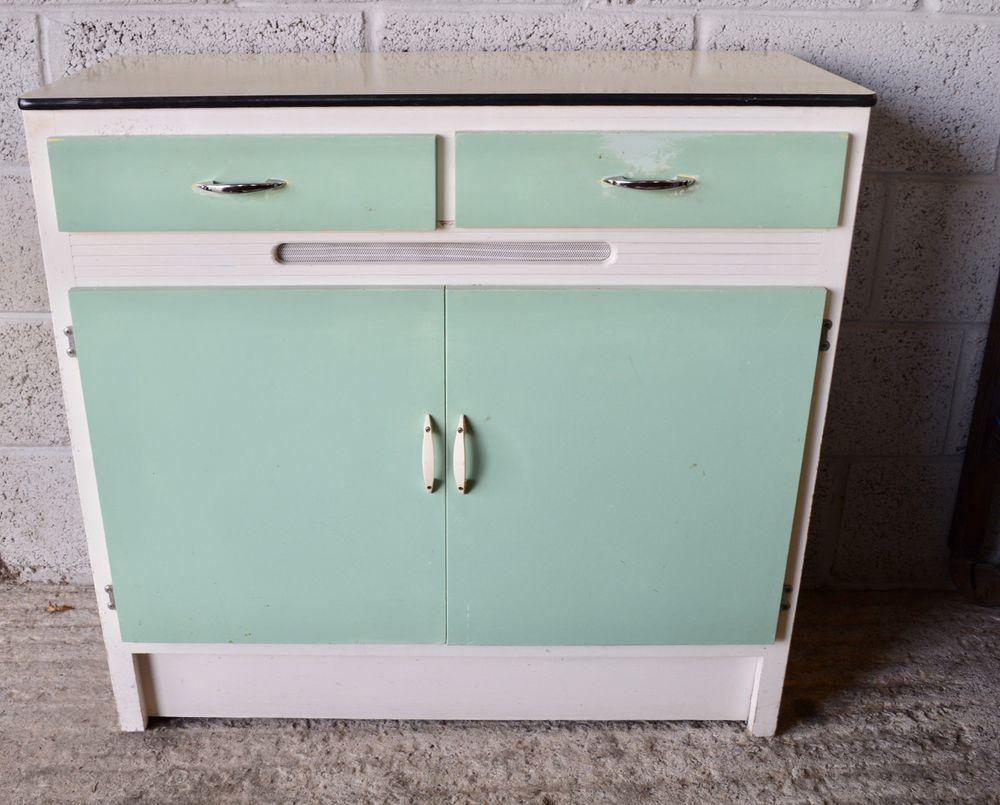 Original 1960s Vintage Retro Kitchen Cabinet Cupboard Unit Shepherds ...
