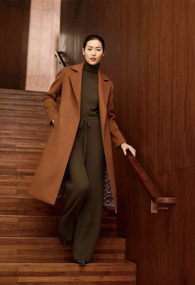 1b98adf0745c Liu Wen   Zhao Lei Model Fall Winter Styles for Erdos