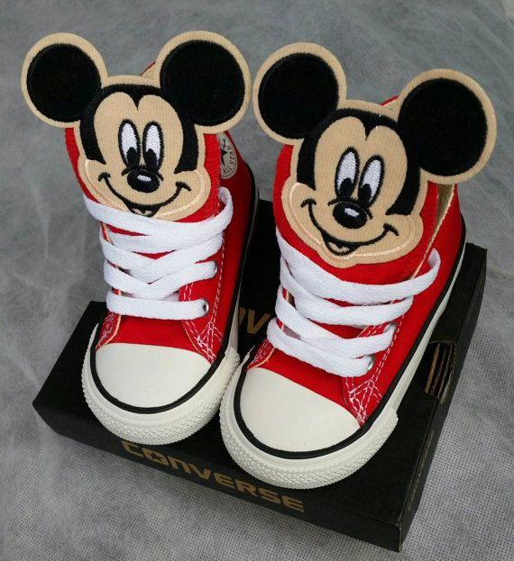 Boys Mickey Mouse Converse Kids Custom 80nkOPw